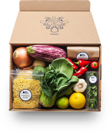 Blue apron fresh ingredients original recipes delivered to you box forumfinder Choice Image