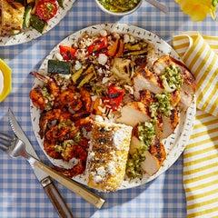 Chicken & Shrimp Mixed Grill: Summer Cookout
