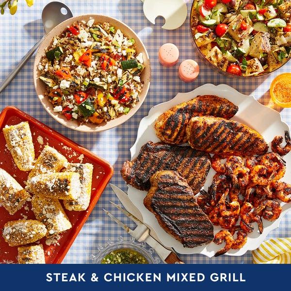 Steak & Chicken Mixed Grill: Summer Cookout (Serves 6-8)