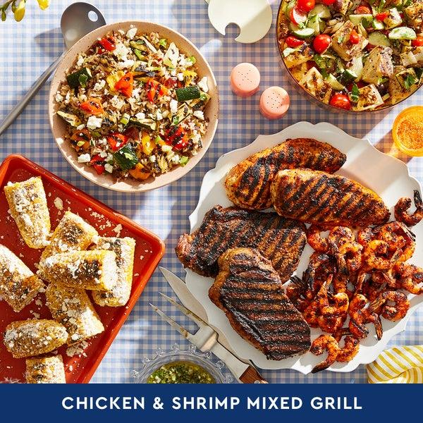 Chicken & Shrimp Mixed Grill: Summer Cookout (Serves 6-8)