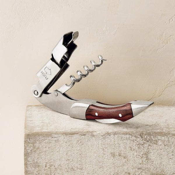 Walnut Zippity Two-Step Corkscrew
