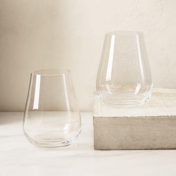 Tritan Stemless Wine Glasses, Set of 2