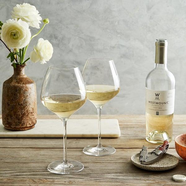 """The One"" Wine Glasses, 2 White"