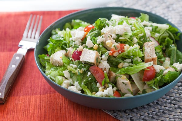 Mexican-Style Chopped Salad with Chicken & Corn