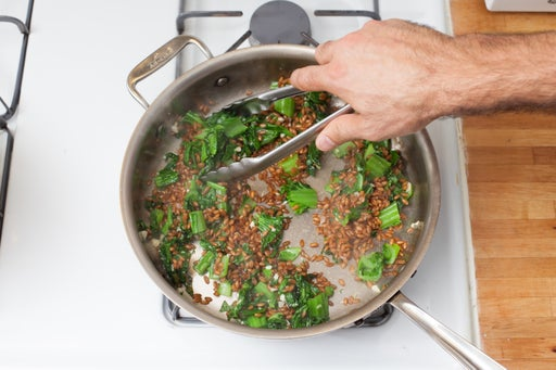 Cook the mustard greens: