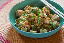 Mapo Doufu with Szechuan Pepper and Brown Rice