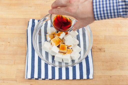 Marinate the tofu:
