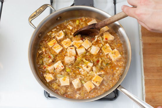Add the tofu: