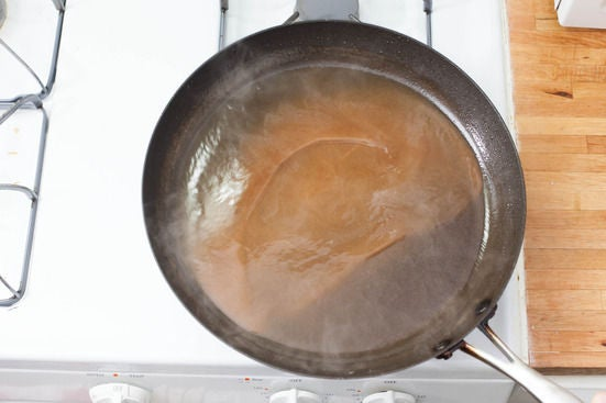 Make the brown butter-tamraind sauce: