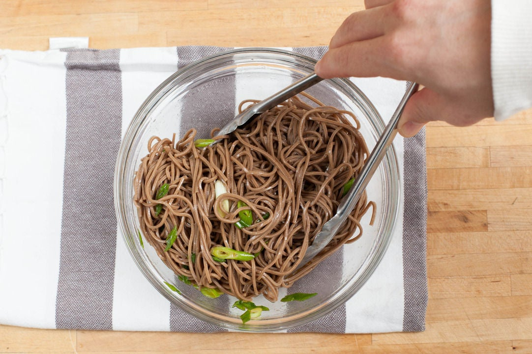 Cook & dress the noodles: