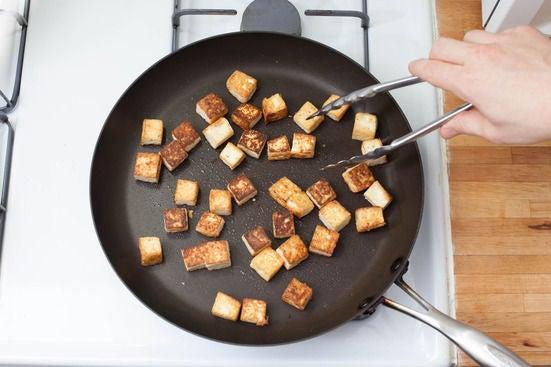 Cook the tofu: