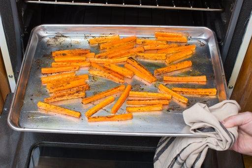 Roast the carrots: