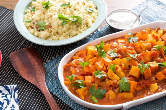 Recipe moroccan root vegetable tagine with almond couscous lemon recipe moroccan root vegetable tagine with almond couscous lemon yogurt sauce blue apron forumfinder Choice Image