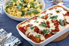 Chicken Rollatini alla Cacciatore with Radiatore Pasta