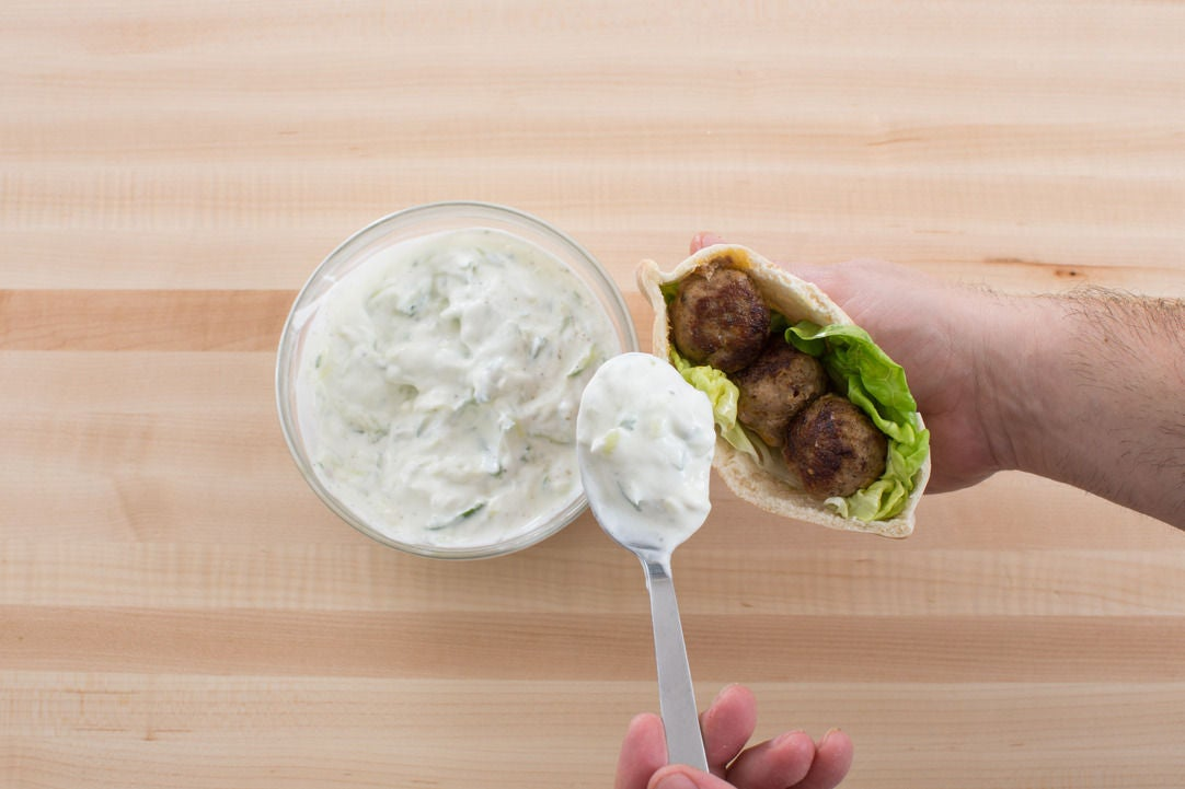 Toast the pitas & plate your dish: