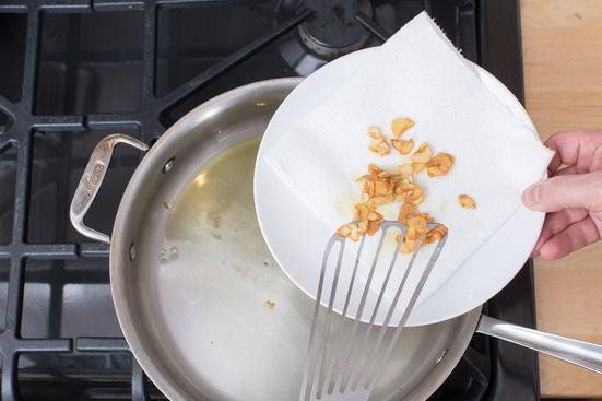 Sauté the garlic: