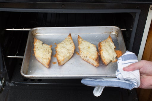 Make the cheddar cheese toast: