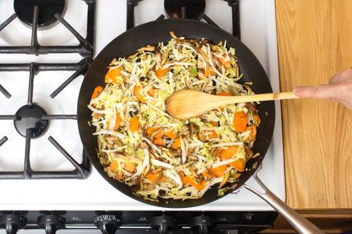 Add the cabbage & aromatics: