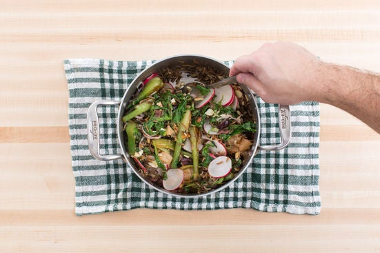 Finish the salad:
