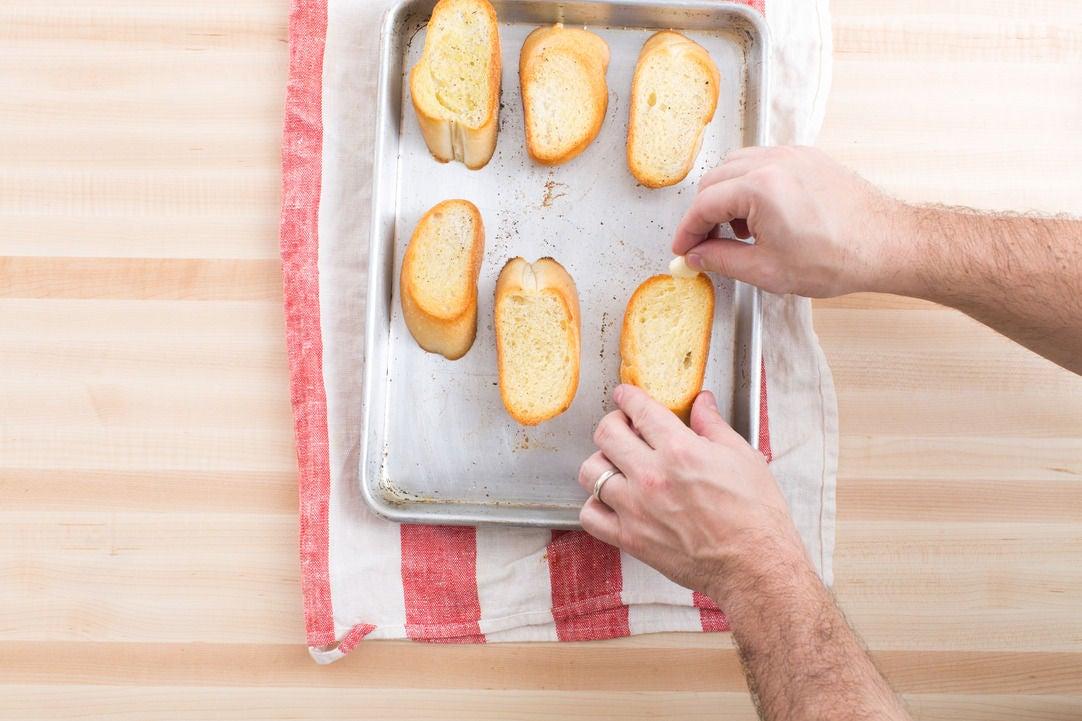 Make the garlic bread: