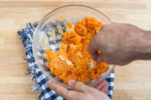Smash the sweet potato: