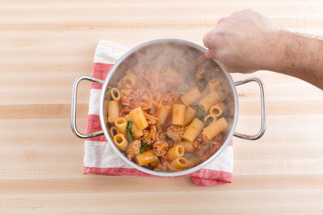 Cook & bake the pasta: