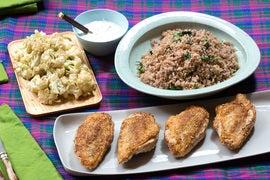 Za'atar-Spiced Chicken with Tabbouleh, Roasted Cauliflower & Tzatziki