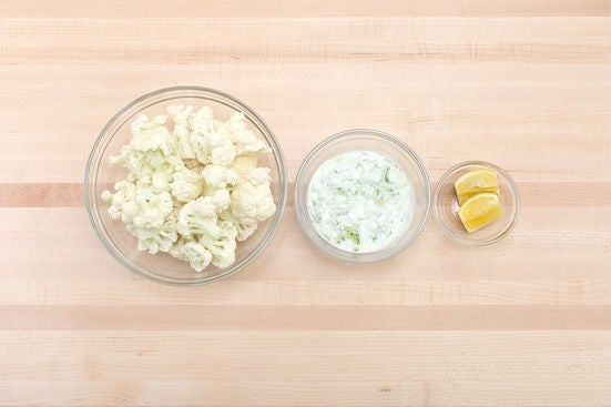 Prepare the ingredients & make the tzatziki: