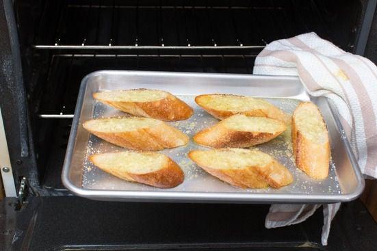 Make the pecorino cheese toast: