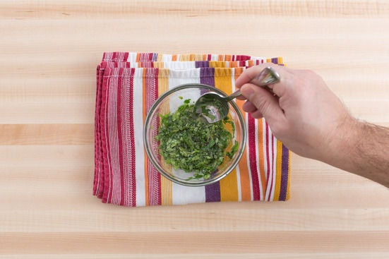 Make the mint-lime sauce: