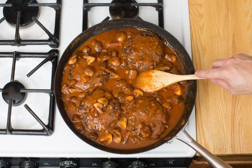 Make the sauce & finish the patties: