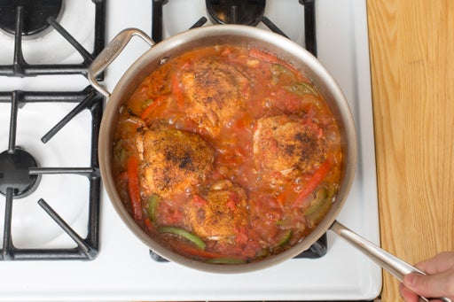 Braise the chicken & vegetables: