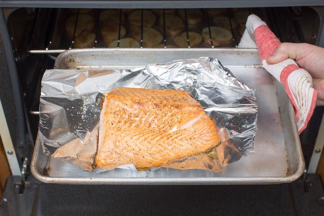 Roast & prepare the salmon: