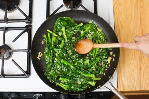 Cook the gai lan:
