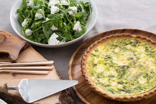 Asparagus & Leek Spring Quiche with Goat Cheese & Arugula Salad