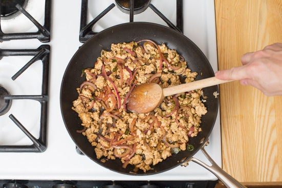Make the larb gai: