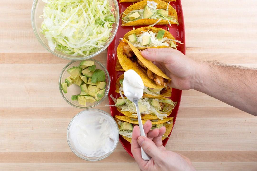 Dress the tacos:
