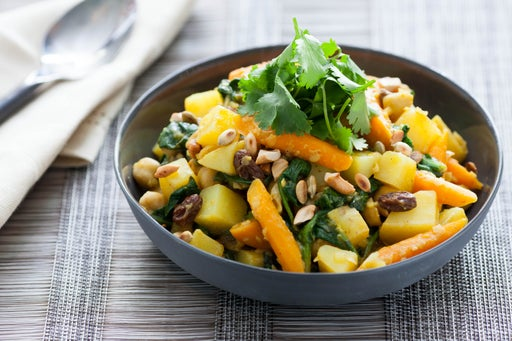 Aloo Chana Masala  with Cashews & Raisins