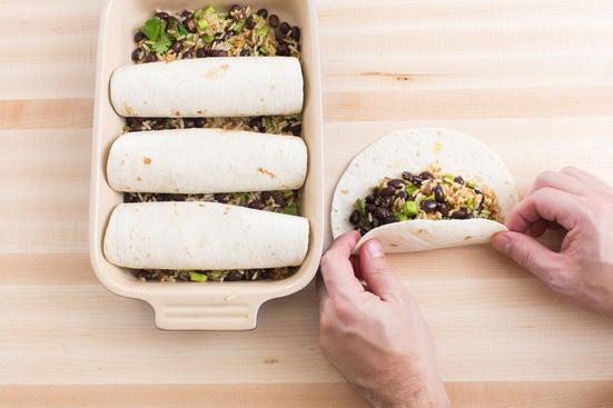 Assemble & bake the enchiladas: