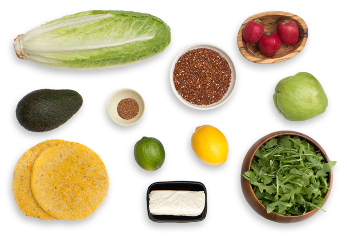 Mexican Chopped Salad with Queso de Freir, Chayote Squash & Citrus Vinaigrette ingredients