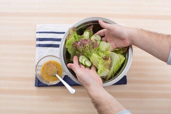 Make the salad & finish your dish: