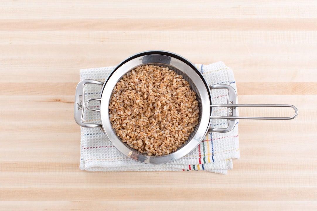 Cook the farro: