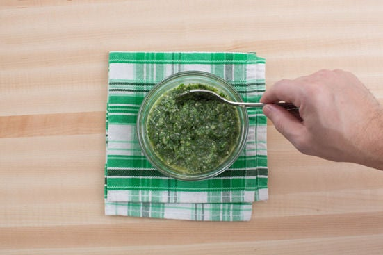 Make the arugula pesto:
