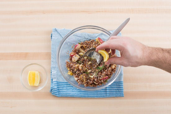 Finish the quinoa: