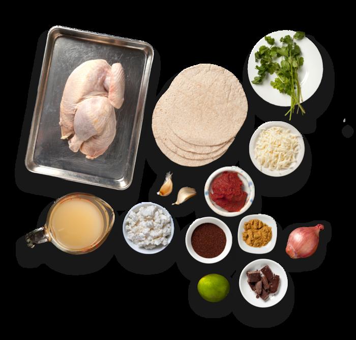 Chicken Mole Enchiladas  ingredients