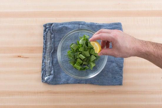 Make the herb garnish: