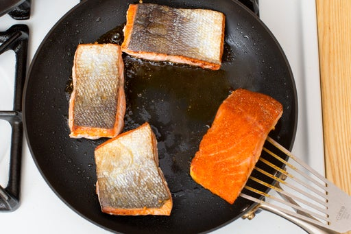 Cook the salmon: