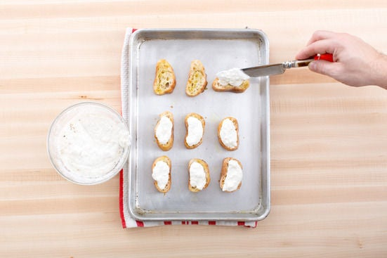 Make the lemon-ricotta toasts:
