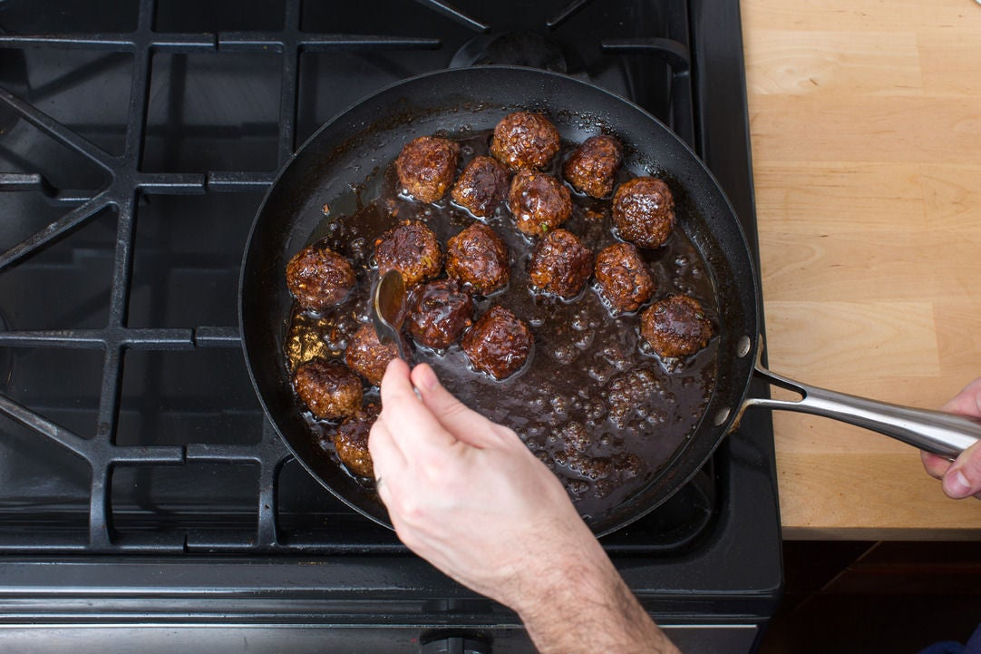 Finish the meatballs: