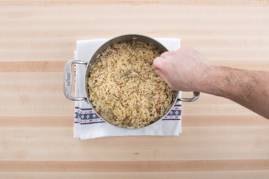 Add the rice: